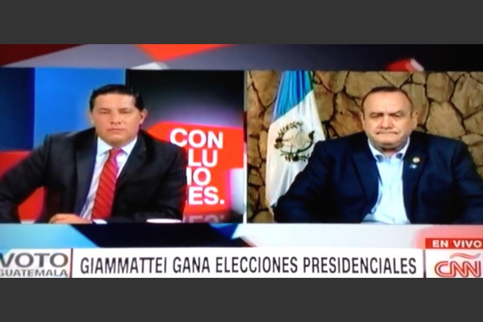 Un video compartido en redes sociales muestra las palabras del periodista hacia el mandatario de Guatemala. (Foto: captura video)