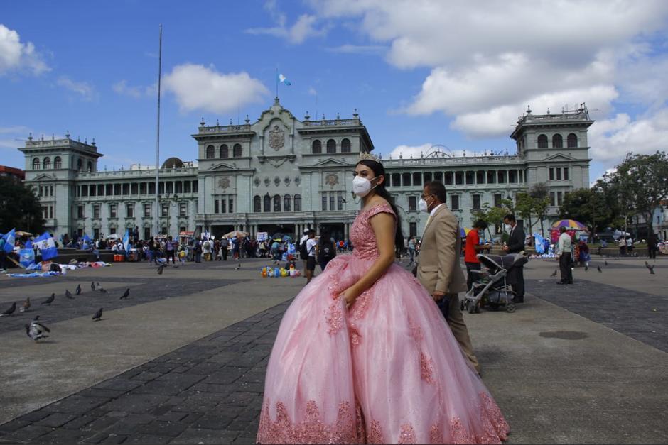 Sofía también manifestó su descontento ante el actuar del Gobierno. (Foto: Alexis Batres/Soy502)