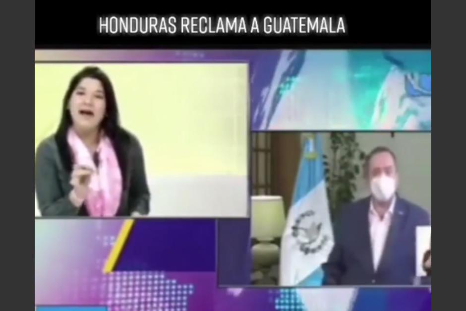 """La hondureña reclama un mal trato hacia los integrantes de la """"Caravana Migrante"""". (Foto: Captura de pantalla)"""
