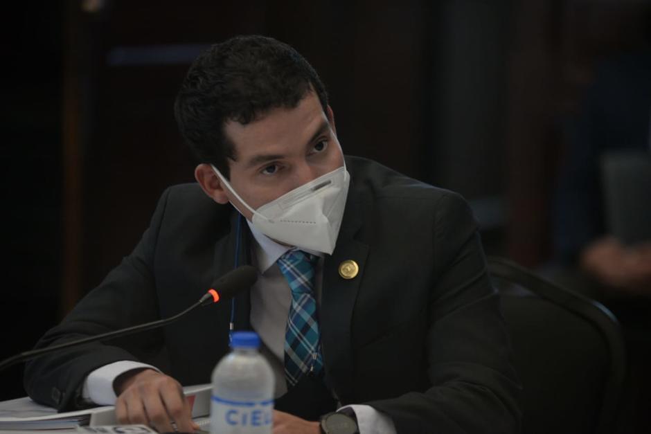 Martínez acudió este lunes al Congreso a una reunión con la bancada Semilla. (Foto: Wilder López/Soy502)