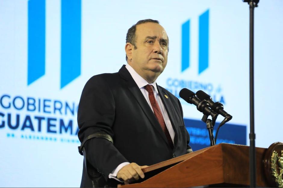 El presidente Alejandro Giammattei participó en la presentación del plan Estratégico de Trabajo para Operativos de Inspección del Mintrab. (Foto: Presidencia)