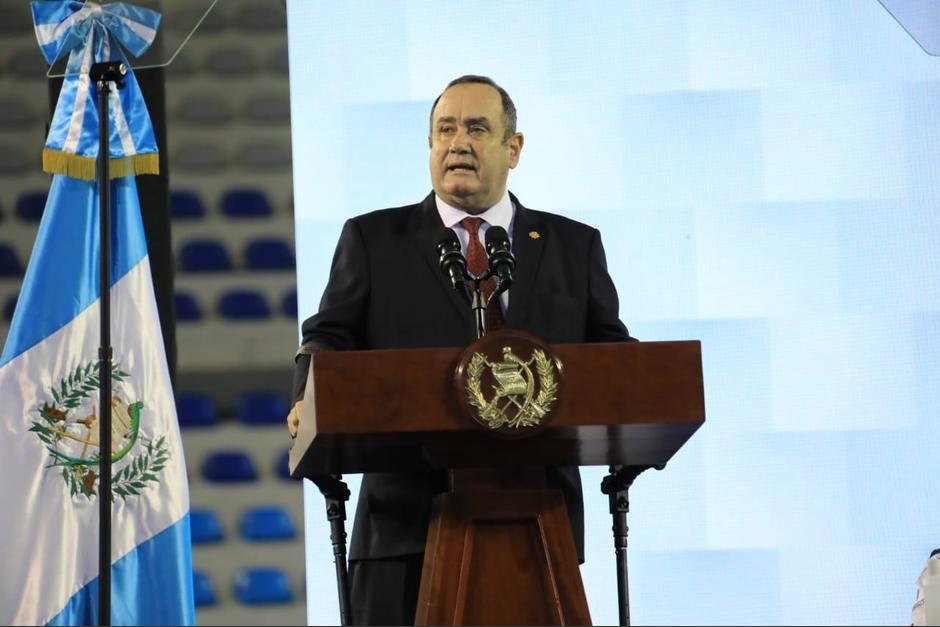 El presidente Alejandro Giammattei participó en una actividad del Ministerio de Trabajo. (Foto: Presidencia)