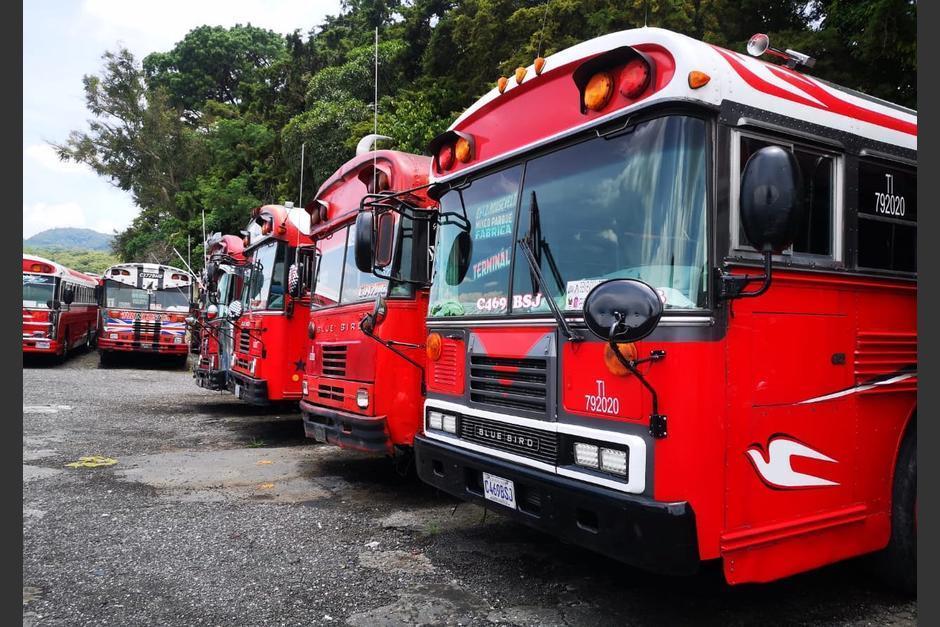 Una inspección a dos predios de buses rojos que circulan en la ciudad capital descubrió que las camionetas no están aptas para circular. (Fotos: Municipalidad de Guatemala)