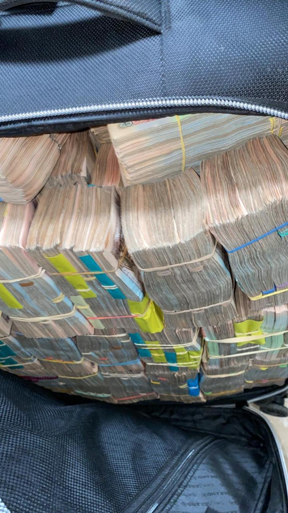El dinero se encontraba guardado en 22 maletas. (Foto: MP)