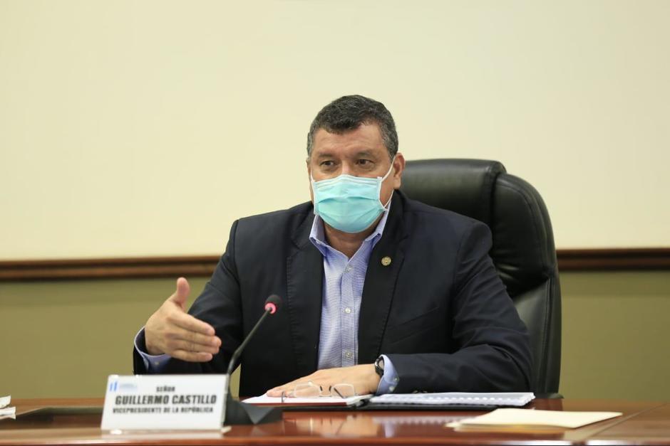 El vicepresidente Guillermo Castillo se pronuncia por la millonaria incautación hecha por la FECI. (Foto: Archivo/Soy502)