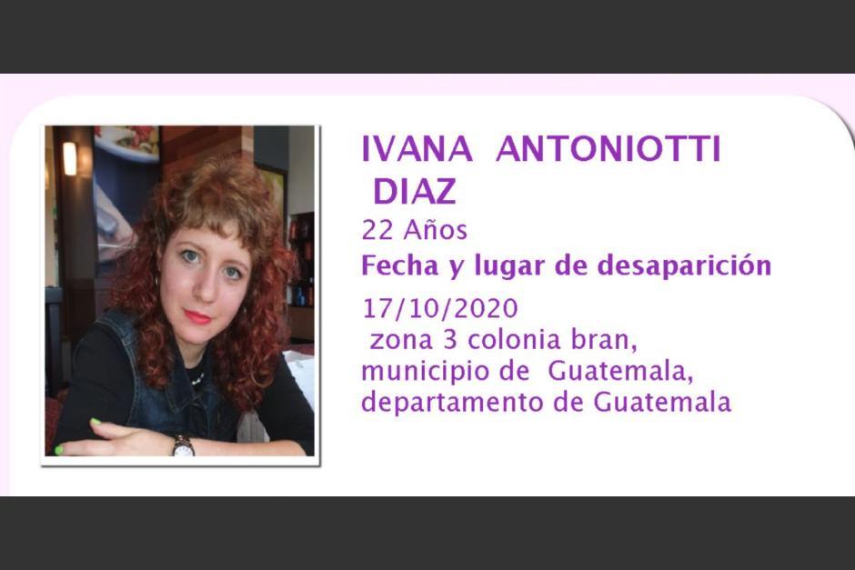 Familiares confirmaron que Ivana Antoniotti se encuentra bien. (Foto: captura pantalla)