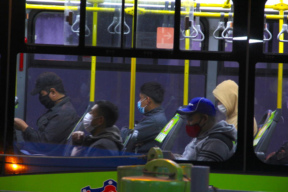 El transporte municipal empezó a funcionar a las 5:00 de la mañana. (Foto: Fredy Hernández/Soy502)