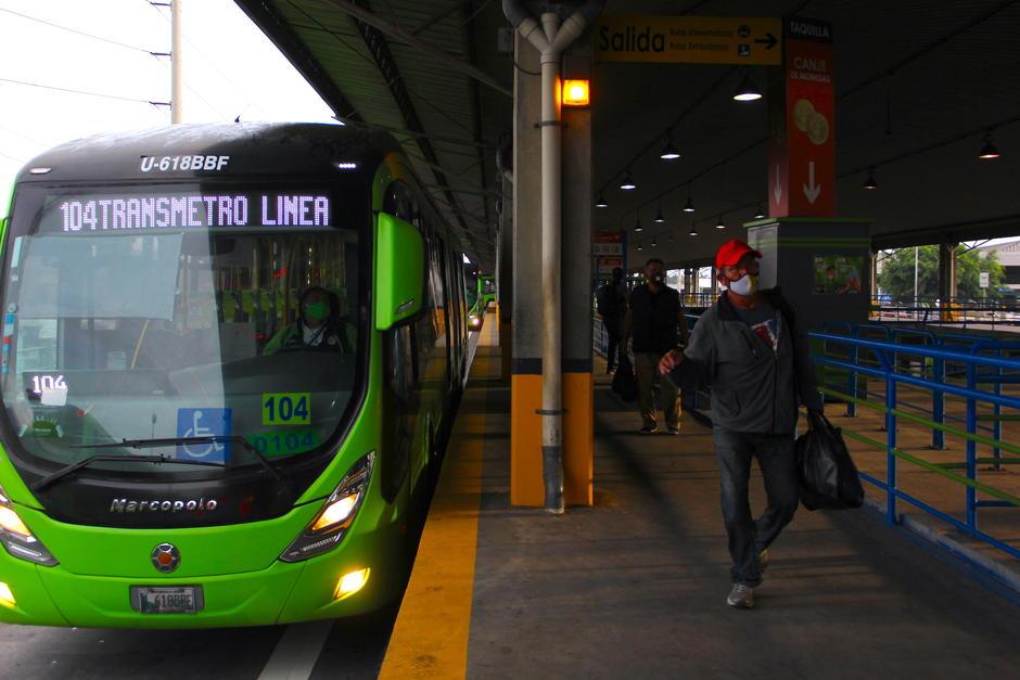 El servicio de Transmetro inició operaciones en Centra Sur. (Foto: Fredy Hernández/Soy502)