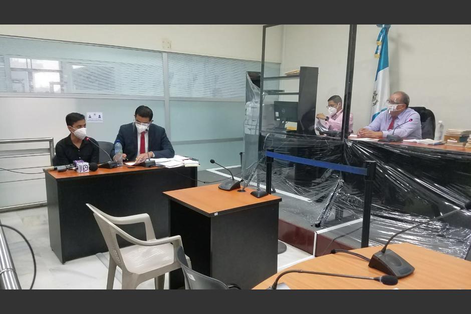 Sonny Figueroa en audiencia de primera declaración. (Foto: Jessica Gramajo/Soy502)