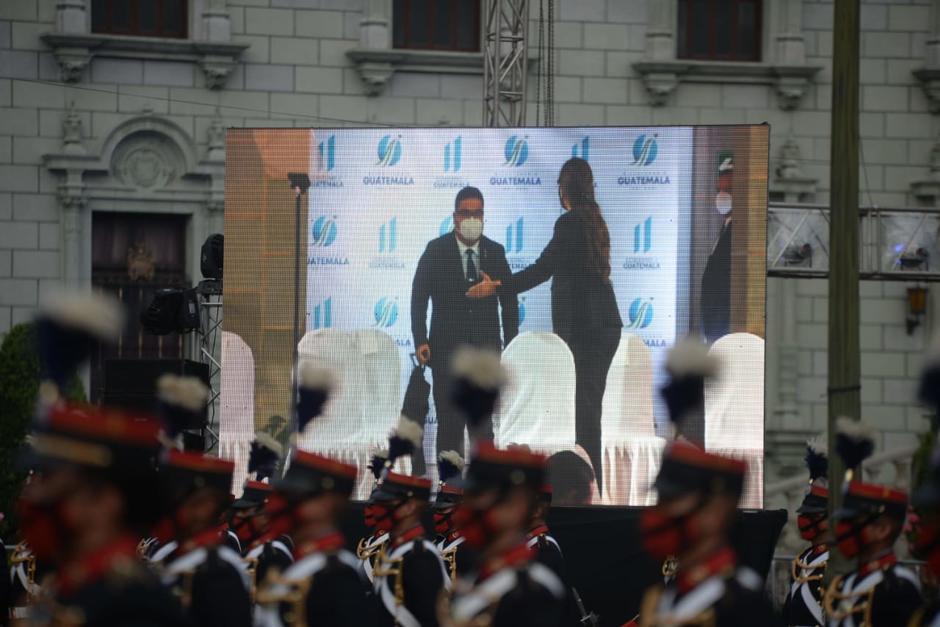 El presidente del Congreso, Allan Rodríguez, acudió a las actividades de Independencia Patria. (Foto: Wilder López/Soy502)