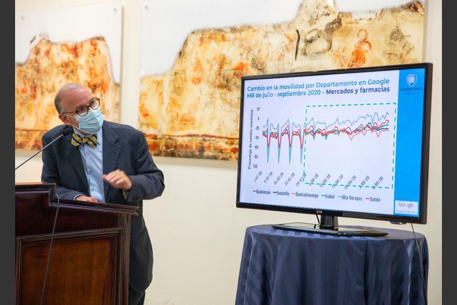 El director de la Coprecovid, Edwin Asturias, ofreció una conferencia de prensa. (Foto: Coprecovid)