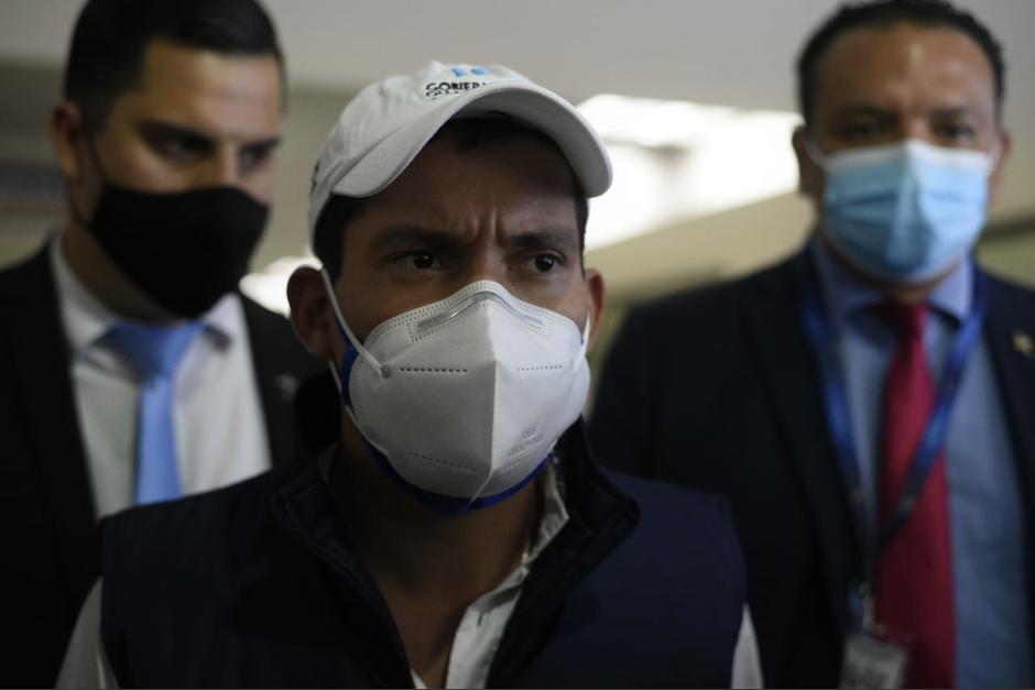 Luego de participar en la apertura del Aeropuerto La Aurora, Miguel Martínez negó tener Covid-19. (Foto: Wilder López/Soy502)