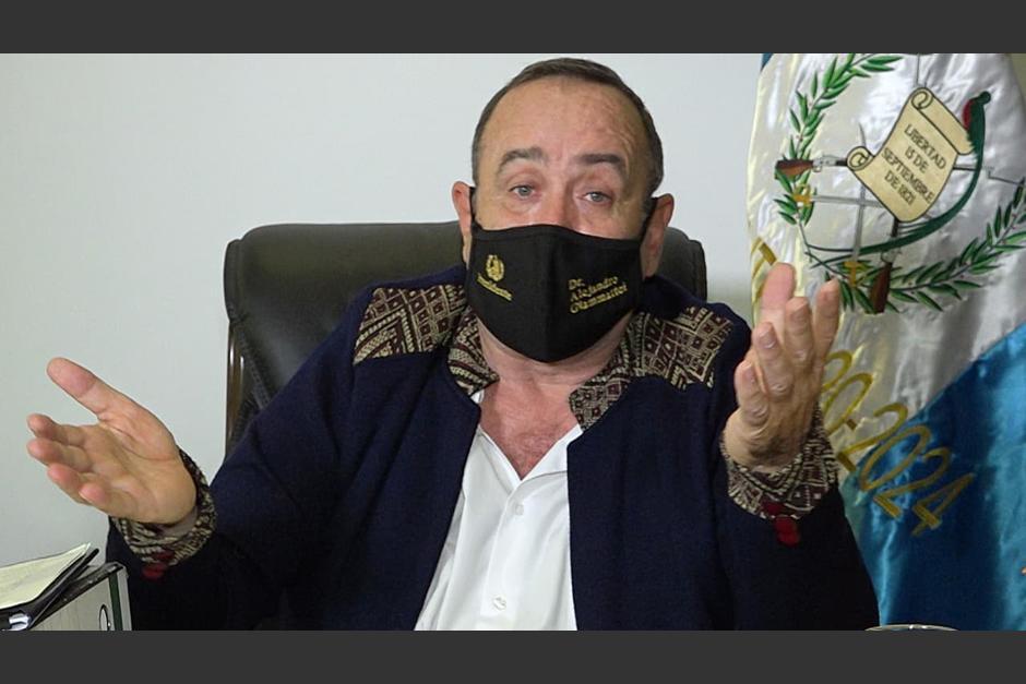El presidente de Guatemala confirmó que tuvo neumonía hace un mes y medio aproximadamente. (Foto: SCSPR)