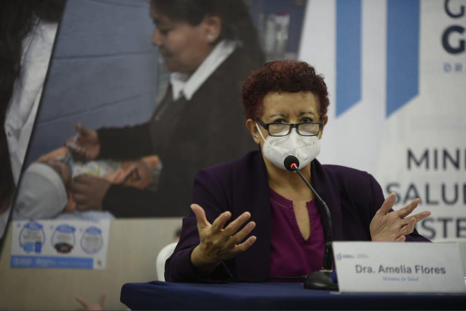 """La ministra de Salud, Amelia Flores, señaló que la segunda oleada de coronavirus en Guatemala """"está cerca"""". (Foto: Archivo/Soy502)"""