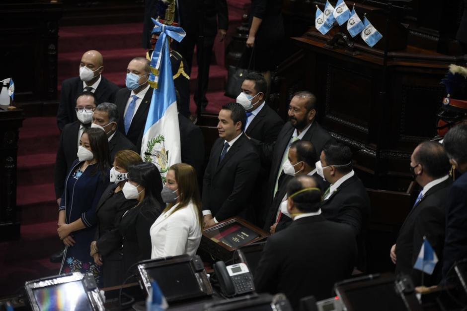 Varios diputados se quitaron la mascarilla durante la sesión solemne para conmemorar los 199 años de Independencia. (Foto: Archivo/Soy502)