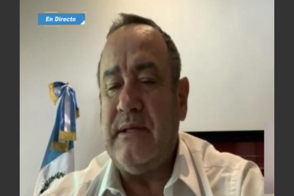 El presidente Alejandro Giamamttei realizó una actualización de su estado de salud. (Foto: Captura de pantalla)