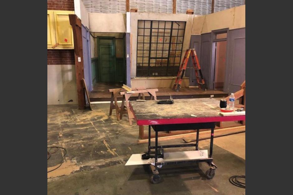 El set recreará el mismo espacio de la serie original (Fotografía: @agusmonti)
