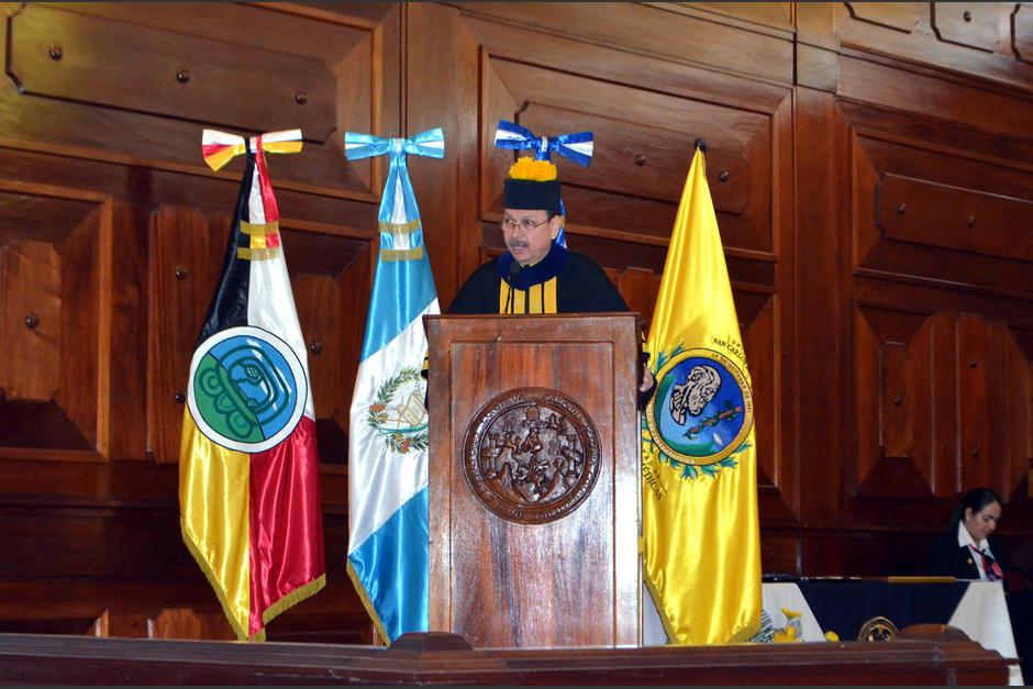 Jorge Orellana Oliva asumirá el cargo porque es el decano más antiguo. (Foto: Usac)
