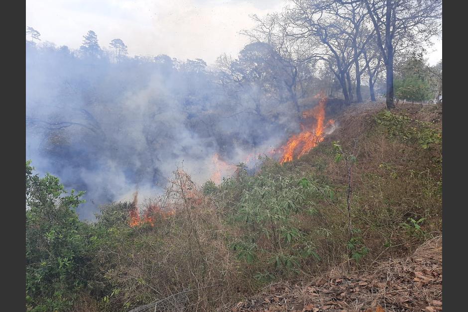 El incendio forestal comenzó el 14 de abril y se extendió el 15, cuando ocurrió la tragedia. (Foto: archivo/Conred)