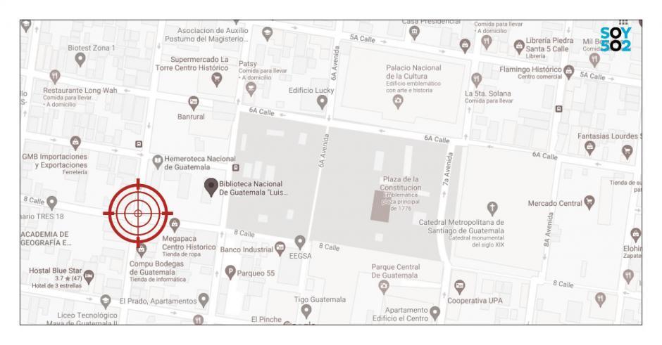 El semáforo de la 4a calle y 8a avenida de la zona 1 es considerado uno de los puntos con más asaltos. (Foto: Soy502)