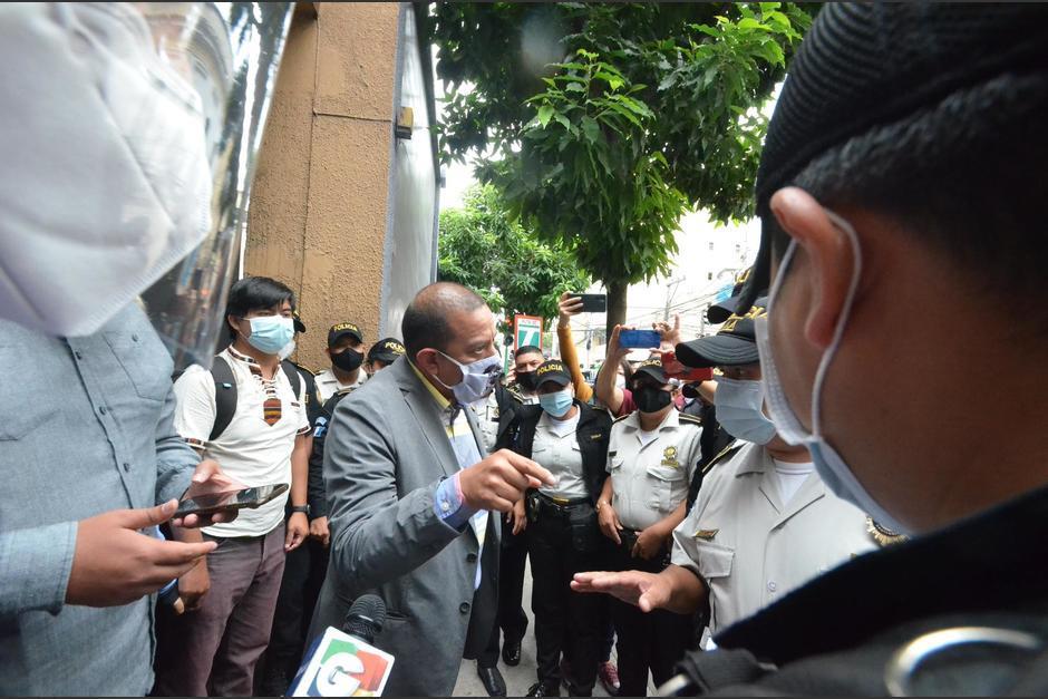 El diputado se enfrascó en una discusión con agentes de la PNC el año pasado. (Foto: Archivo/Soy502)