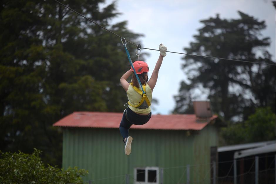 La tirolesa divertirá a grandes y pequeños. (Foto: Wilder López/Soy502)