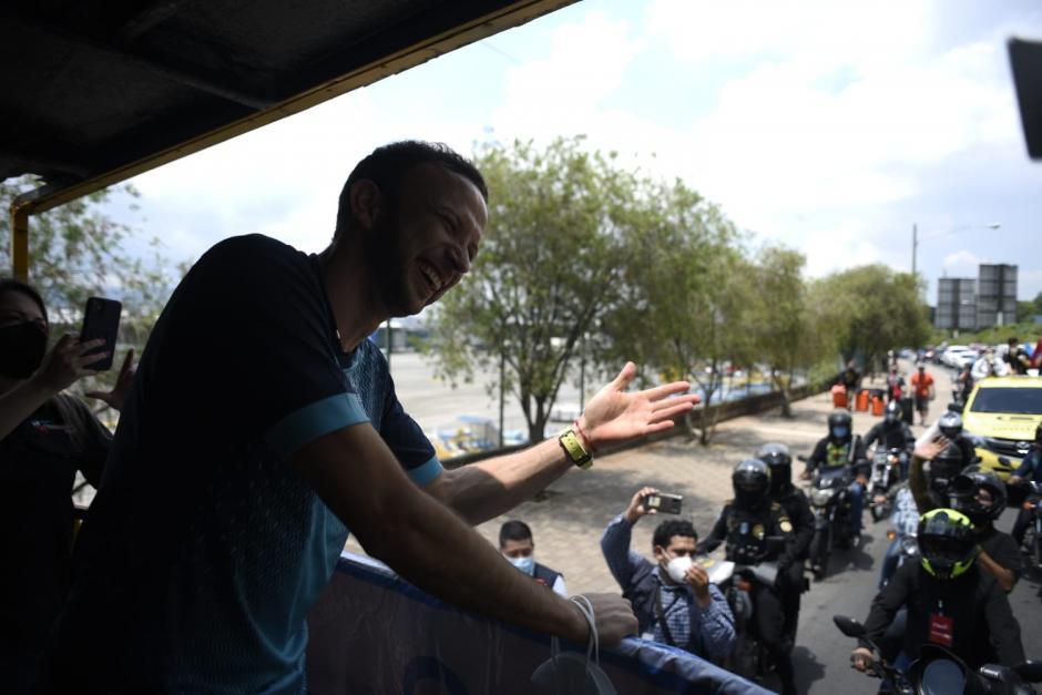 Kevin Cordón inició una caravana que lo llevó a una actividad especial. (Foto: Wilder López/soy502)