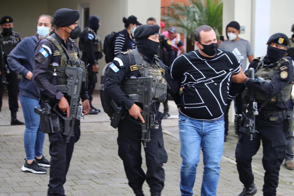 La persona fue detenida en Fraijanes. (Foto: Ministerio de Gobernación)