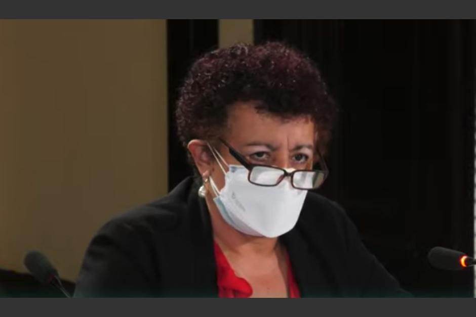 La ministra de Salud reaparece 9 días después de haber confirmado que padecía covid-19. (Foto: Captura de video)