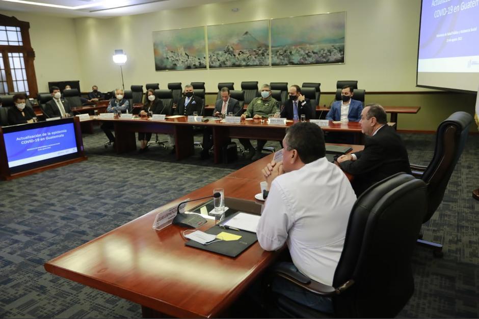 El presidente Alejandro Giammattei se reunió esta tarde con el Gabinete de Gobierno. (Foto: Presidencia)