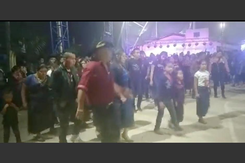 Así fue la masiva celebración que se realizó en San Sebastián Coatán, Huehuetenango. (Foto: Captura de video)
