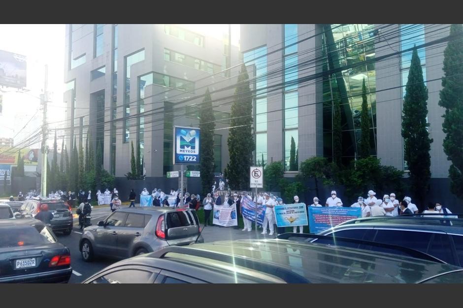 La manifestación no afecta el tráfico en ese lugar. (Foto: Amilcar Montejo/PMT)