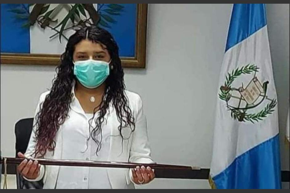 La joven alcaldesa asumió el cargo tras la remoción deJorge Adán Rodríguez Diéguez por falta de finiquito. (Foto: Municipalidad de San Lucas)