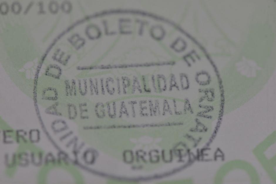 El boleto de ornato ya no es obligatorio para los trámites, sin embargo sí debe ser pagado por el ciudadano como parte de sus obligaciones tributarias. (Foto: archivo/Soy502)