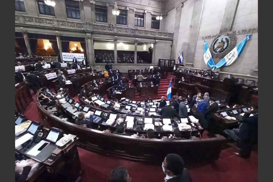 Diputados rechazaron el estado de calamidad decretado por el presidente Alejandro Giammattei. (Foto: Wilder López/Soy502)