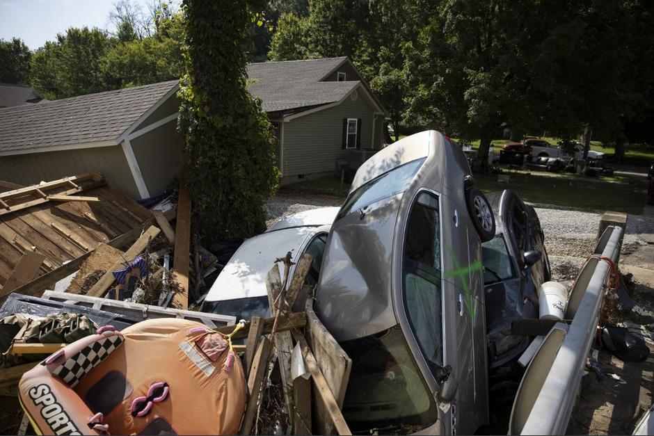 Las lluvias han causado graves incidentes en Tennessee. (Foto: AFP)