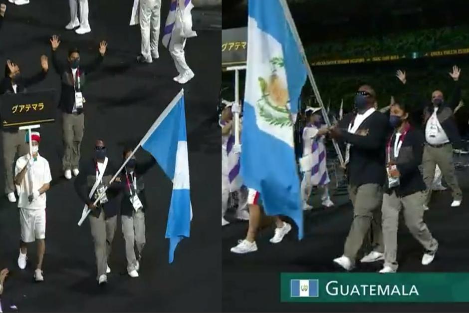 La delegación guatemalteca se hizo presente en la inauguración de los Juegos Paralímpicos de Tokio 2020. (Foto: ilustrativa)