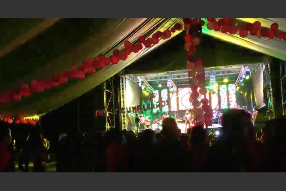 Una masiva fiesta se realizó en El Temal, Joyabaj en el departamento de Quiché. (Foto: Captura de video)