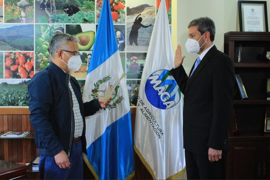 Vinicio Arreaga fue nombrado como viceministro de Seguridad Alimentaria. (Foto: MAGA)