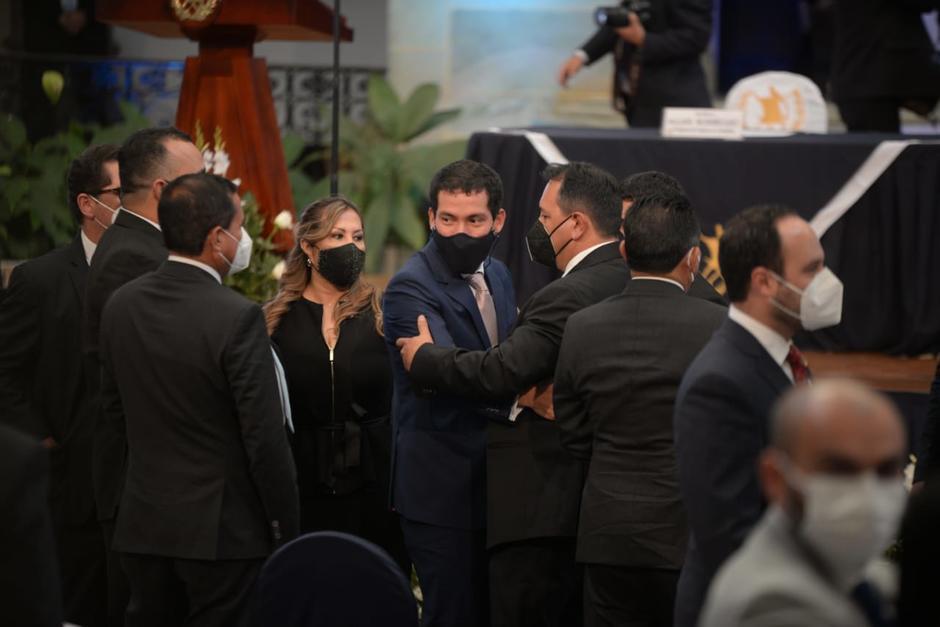 Miguel Martínez, exdirector del Centro de Gobierno, acudió a la entrega el primer informe de Gobierno de Alejandro Giammattei. (Foto: Wilder López/Soy502)