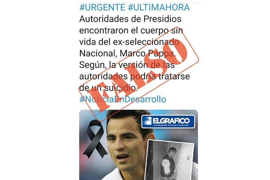 Circula información sobre la supuesta muerte del futbolista Marco Pappa, pero fue desmendita. (Foto: Twiiter)