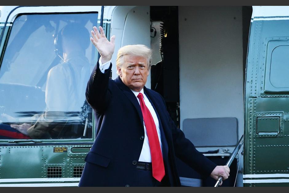 El presidente saliente de Estados Unidos, Donald Trump llegaron a la base Andrews para vivir en una casa federal. (Foto: AFP)
