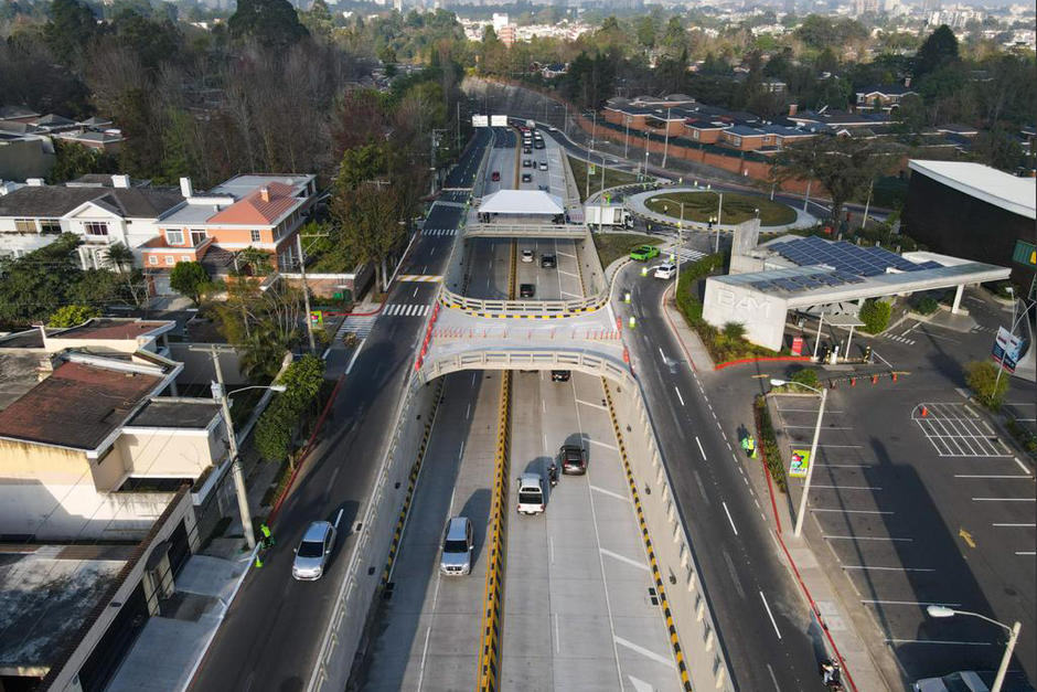 La Municipalidad de Guatemala inauguró el primer paso a desnivel de este 2021. (Foto: Municipalidad de Guatemala)