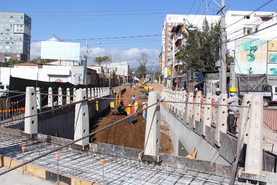 El proyecto lleva el 50% de ejecución sobre la 31 calle y calzada Atanasio Tzul. (Foto: Fredy Hernández/Soy502)