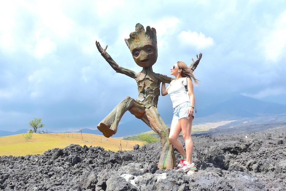 El personaje enamora a todos los visitantes. (Foto: Fredy Hernández/Soy502)