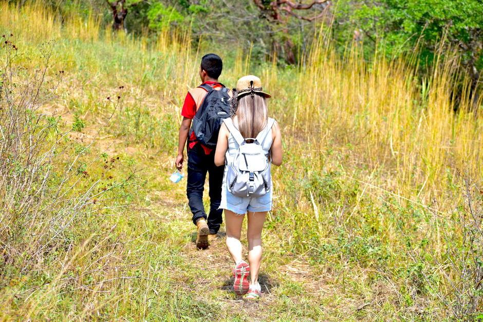 Los paseos por los senderos es una aventura. (Foto: Fredy Hernández/Soy502)