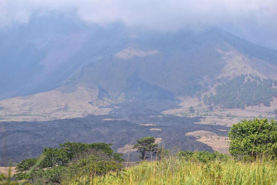 Algunos de los lugareños resaltan que en la lava resalta la silueta de una mujer. (Foto: Fredy Hernández/Soy502)