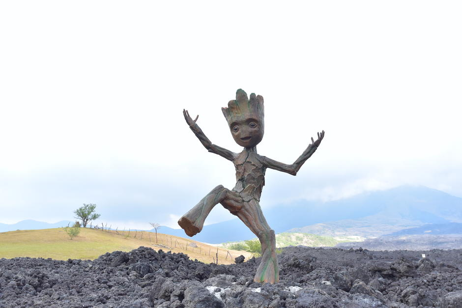 Groot es el nuevo guardián de la naturaleza de la finca El Amate. (Foto: Fredy Hernández/Soy502)