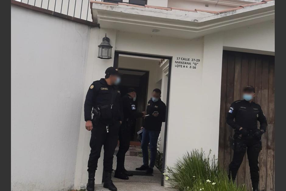 El MP realizó un allanamiento en una de viviendas que podría ser propiedad del exsecretario privado de la Presidencia, Giorgio Bruni. (Foto: MP)