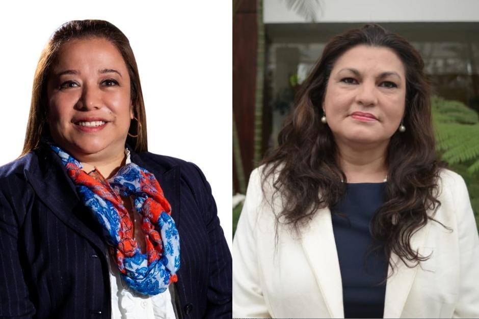 Claudia Paniagua y Patricia Galdámez pasan a segunda vuelta. (Fotos: Facebook y Wilder López)